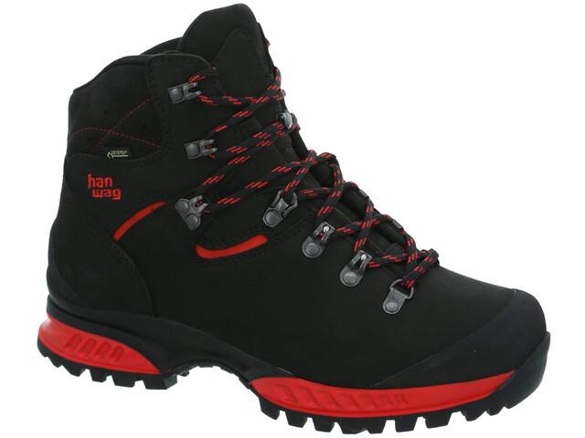 Hanwag Tatra II GTX Chaussures Homme, black/red